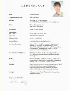 Eine Probe von  Tabellarischer Lebenslauf Vorlage Schülerpraktikum Neu Muster Vorlage Lebenslauf Schüler Praktikum
