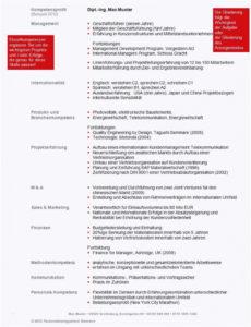 Eine Probe von  Unglaubliche Kompetenzprofil Vorlage Einzigartig Manager Bewerbung Vorlage Lebenslauf Mit Kompetenzprofil