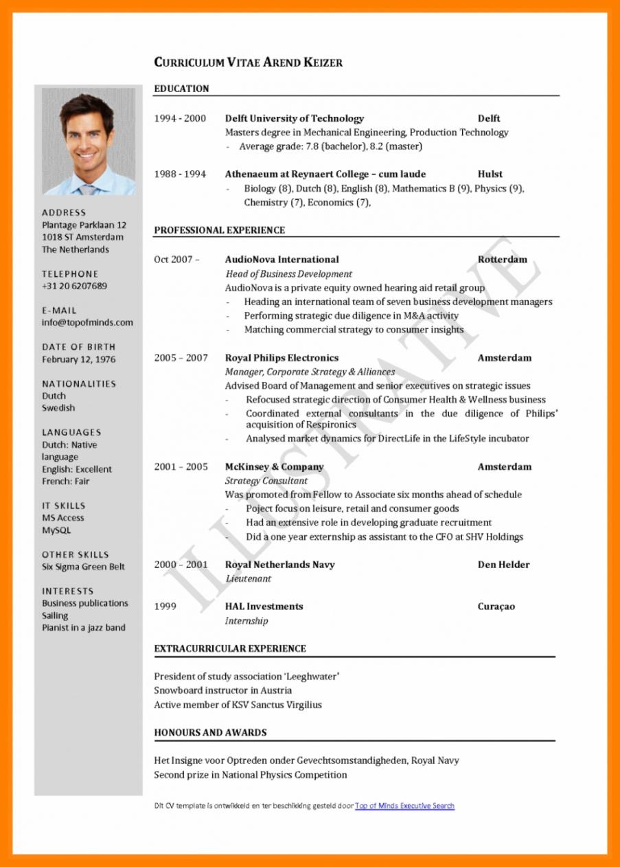 Frisch Cv Muster Word Englisch Curriculum Vitae English Word Lebenslauf Vorlage Curriculum Vitae