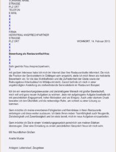Genial Bewerbung Restaurantfachfrau Best Of Anschreiben Bewerbung Lebenslauf Vorlage Restaurantfachfrau