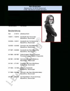 Initiativbewerbung Als Sekretärin (Muster Lebenslauf) Vorlage Lebenslauf Sekretärin