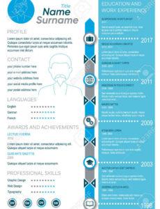 Kreative Vektor Blau Minimalistischen Lebenslauf Vorlage Für Herren Vorlage Lebenslauf Blau