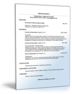 Lebenslauf Buchhaltung Englisch  Muster Zum Download Vorlage Lebenslauf Englisch Usa