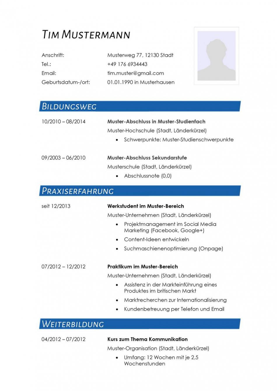 Lebenslauf Muster Für Journalist  Lebenslauf Designs Lebenslauf Vorlage Journalismus