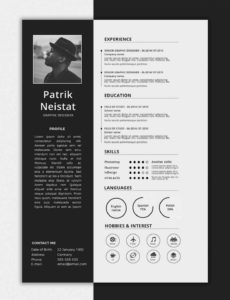 Onepage Resume Templates: 15 Examples To Download And Use Now Vorlage Lebenslauf One Pager