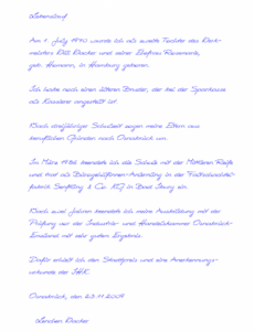 Original Handschriftlicher Lebenslauf Für, Einbürgerung Muster Vorlage Handgeschriebener Lebenslauf Einbürgerung