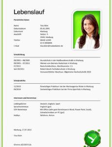 Porbe von  11 Free Muster Lebenslauf Praktikum Interview Bewerbungsschreiben Vorlage Lebenslauf Bewerbung Praktikum