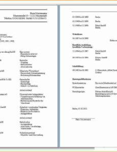 Porbe von  15+ Vorlage Lebenslauf Anschreiben  The Complete Works Muster Lebenslauf Und Anschreiben