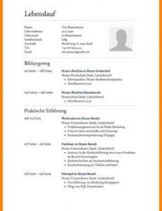 Porbe von  17+ Bewerbung Ferienjob Muster  Ssccithaca Vorlage Lebenslauf Ferienjob