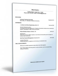 Porbe von  18+ Resume Englisch Muster  Teenpregnancyct Cv Vorlage Englisch Praktikum