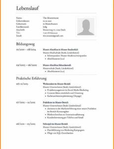 Porbe von  20+ Lebenslauf Zeilenabstand  Nyspatriotplan Lebenslauf Vorlage Zeilenabstände
