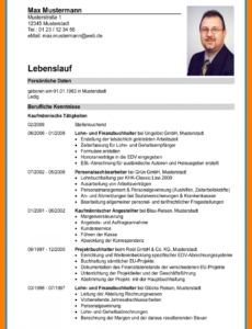 Porbe von  20+ Wie Schreibt Man Ein Lebenslauf  Rigarda Lebenslauf Vorlage Schüler Max Mustermann