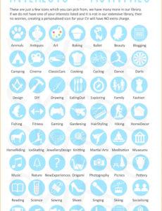 Porbe von  7+ Lebenslauf Icons  Terraindance Vorlage Lebenslauf Mit Icons