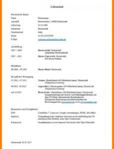 Porbe von  7+ Lebenslauf Muster Hobbys  Rigarda Lebenslauf Vorlage Hauptschule