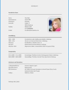 Porbe von  Basic Bewerbung Vorlagen Mac Organigramm Vorlage, Fabelhaft Vorlage Lebenslauf Mac