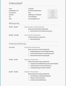 Porbe von  Basic Lebenslauf Muster Für Mac Lebenslauf Vorlage Pages, Lebenslauf Vorlage Lebenslauf Mac