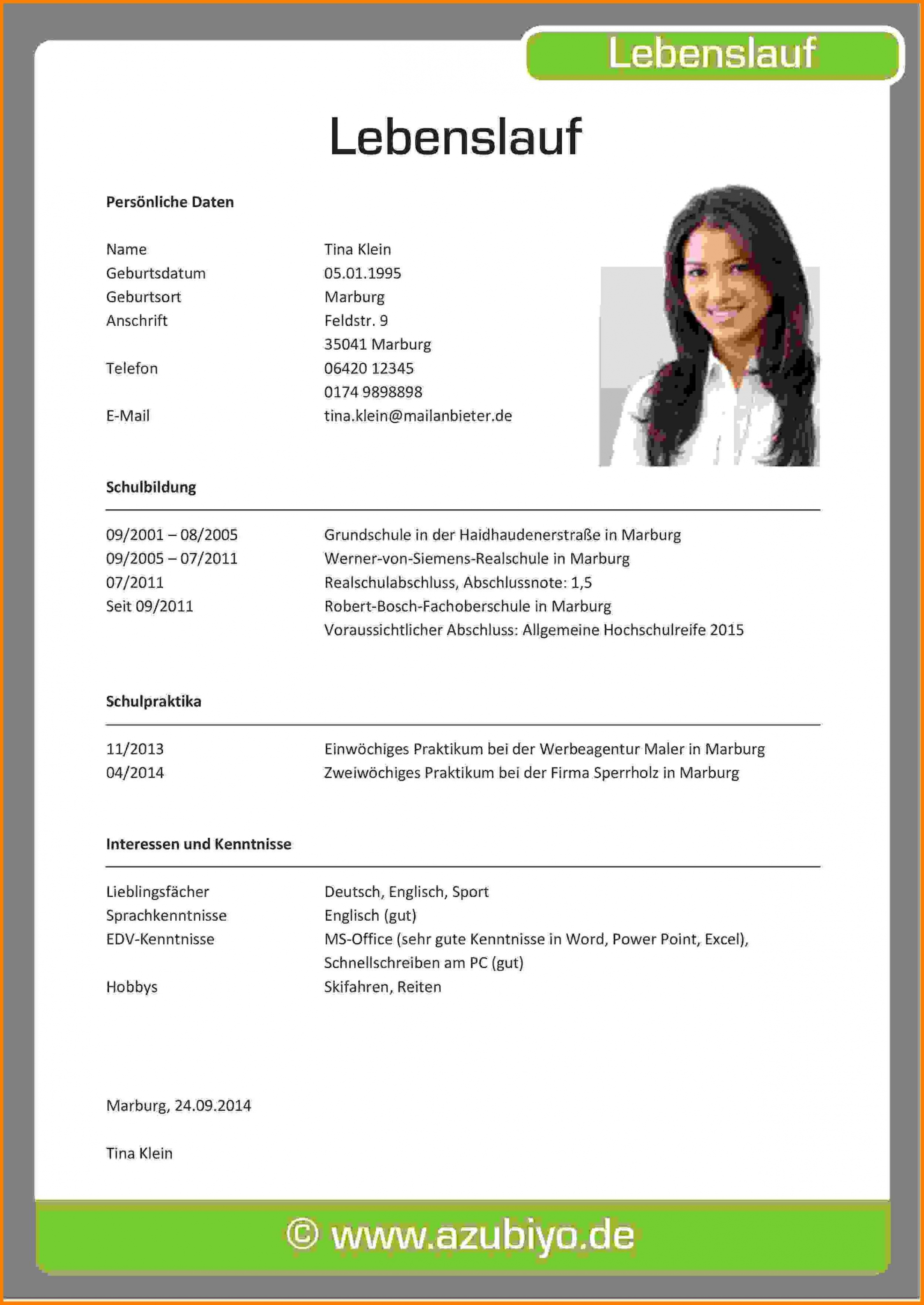 Porbe von  Bewerbung Lebenslauf Muster  Design  Bewerbungsschreiben Vorlagen Lebenslauf Und Bewerbung