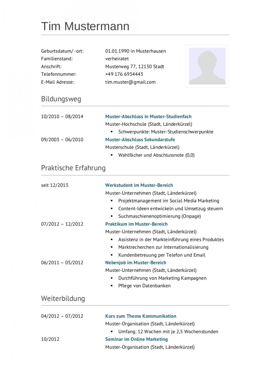 Porbe von  Bewerbungsmuster Techniker  Lebenslauf Designs Vorlage Lebenslauf Techniker