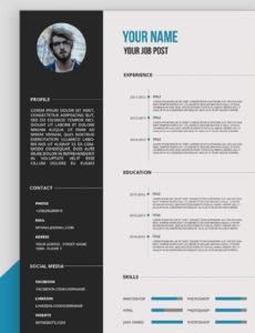 Porbe von  Cv/resume Template Design Tutorial With Photoshop Free Psd+Docs+Pdf Lebenslauf Vorlage Youtube