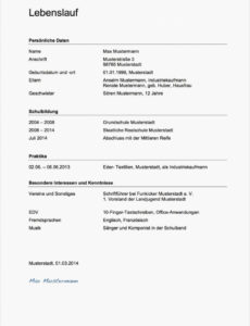 Porbe von  Gut Anschreiben, 5008 Zeilenabstand Lebenslauf, 5008 Vorlage Genial Lebenslauf Vorlage Zeilenabstände