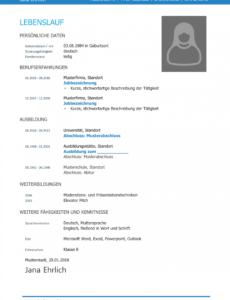 Porbe von  Kostenlose Lebenslauf Muster Und Vorlagen Für Deine Bewerbung 2018 Tabellarischer Lebenslauf Vorlage Xing