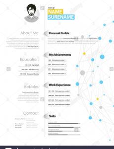 Porbe von  Kreative Einfache Lebenslauf Vorlage Mit Blauen Und Grauen Kreisen Vorlage Lebenslauf Blau