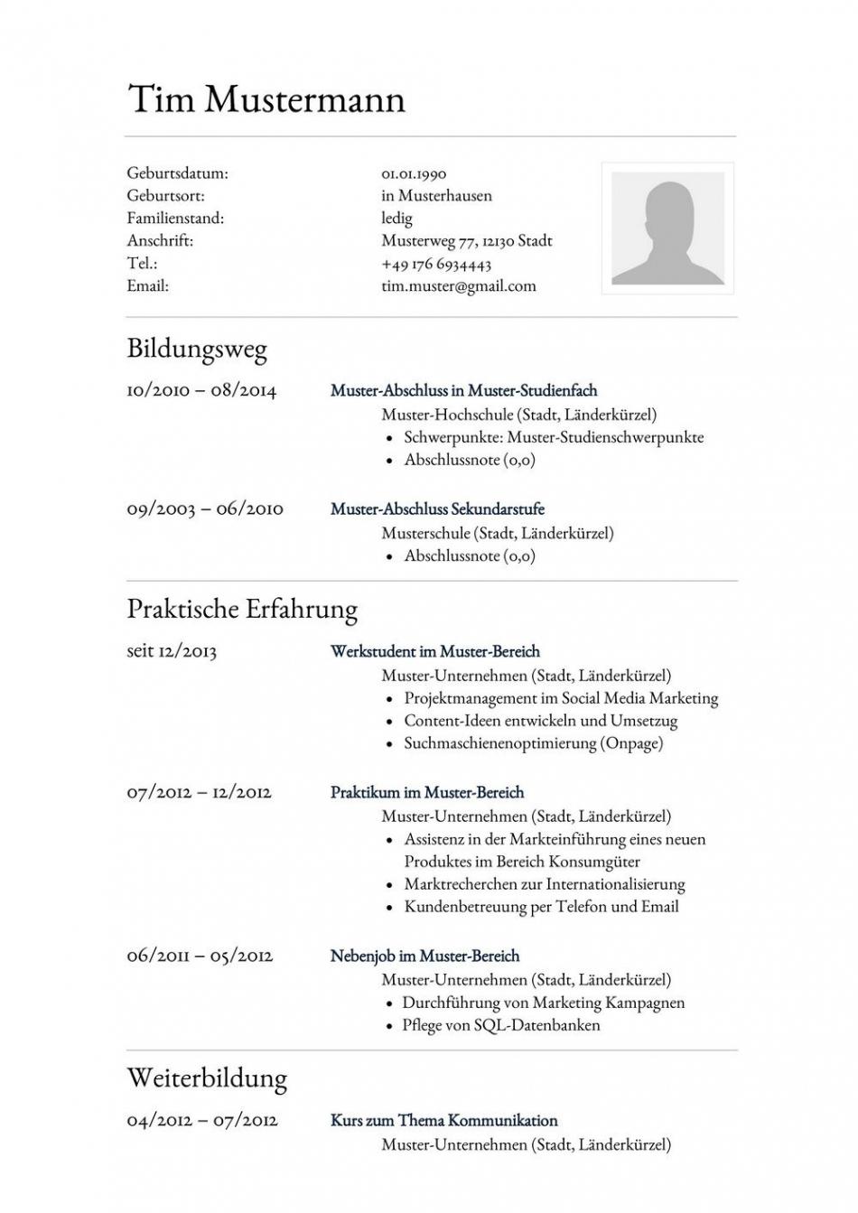 Porbe von  Lebenslauf Muster Für Assistent  Lebenslauf Designs Vorlage Lebenslauf Assistentin Der Geschäftsführung