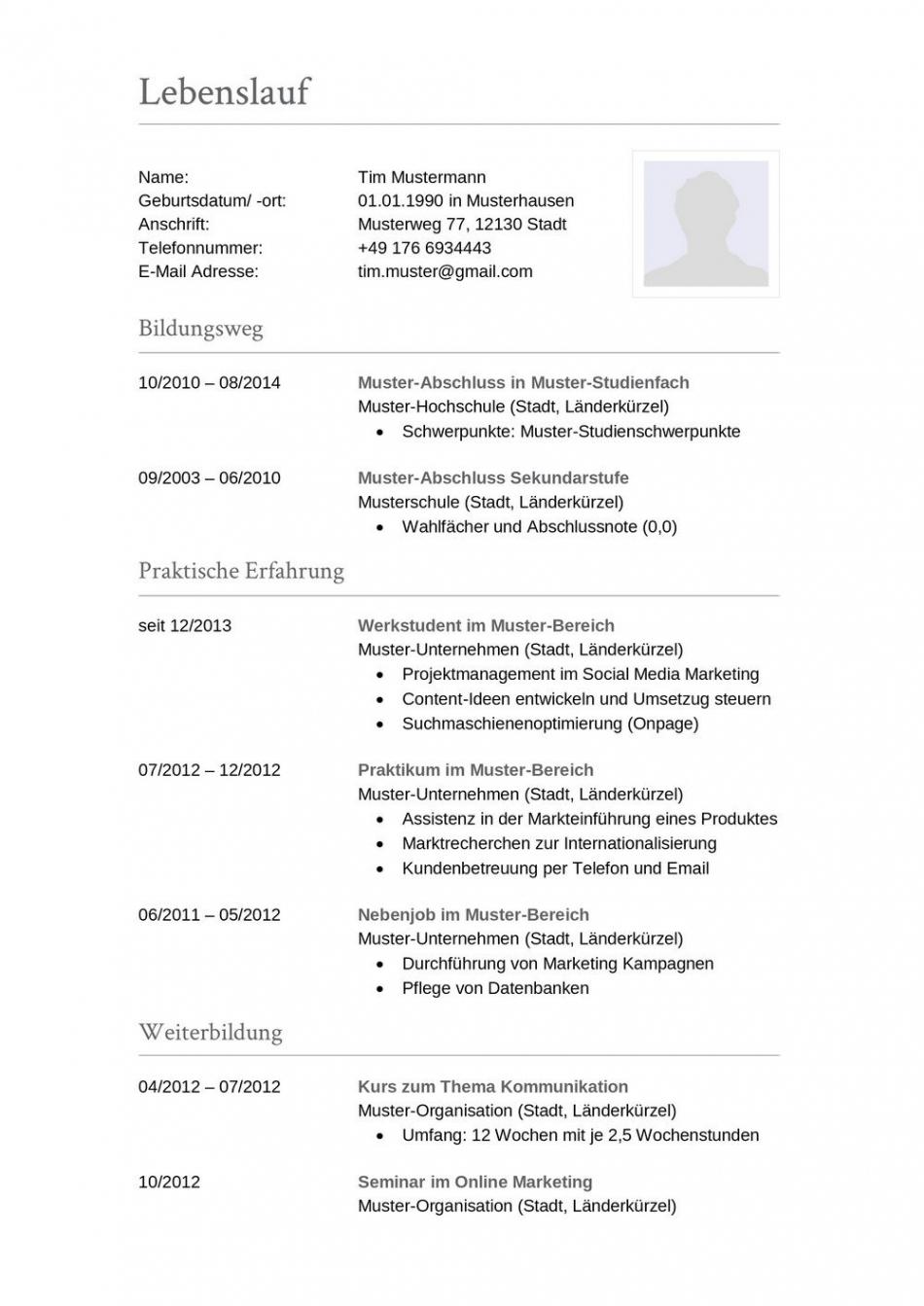 Porbe von  Lebenslauf Muster Für Buchhalter  Lebenslauf Designs Vorlage Lebenslauf Buchhaltung