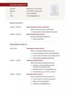Porbe von  Lebenslauf Muster Für Führungskraft  Lebenslauf Designs Vorlage Lebenslauf Führungskraft