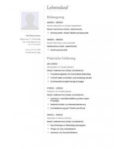 Porbe von  Lebenslauf Muster Für Sekretär/in  Lebenslauf Designs Vorlage Lebenslauf Buchhaltung