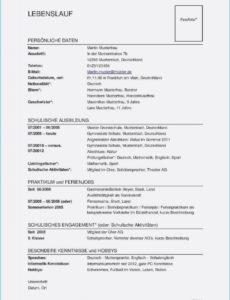 Porbe von  Lebenslauf Muster Word Datei Einzigartig Lebenslauf Muster Download Lebenslauf Vorlage Schweiz Verkäuferin