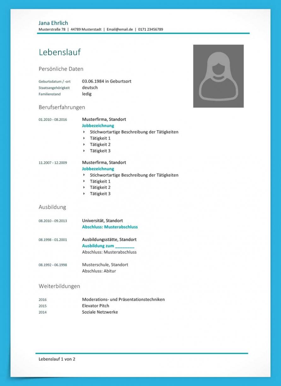 Porbe von  Lebenslauf Vorlage Klassisch (Kostenloser Download) Vorlage Lebenslauf Klassisch
