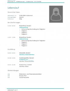 Porbe von  Lebenslauf Vorlage Studium (Kostenloser Download) Lebenslauf Vorlage Schweiz Student