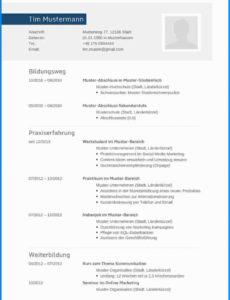 Porbe von  Lebenswert Lebenslauf Muster Uniabsolvent Charmant Business Lebenslauf Vorlage Uni Absolvent
