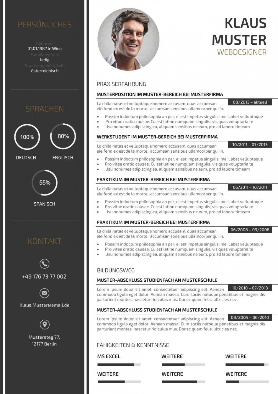 Porbe von  Premium Bewerbungsmuster 3  Lebenslaufdesignsde Vorlage Lebenslauf Kreativ
