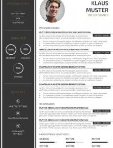 Porbe von  Premium Bewerbungsmuster 3  Lebenslaufdesignsde Vorlage Lebenslauf Layout