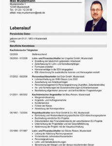 Porbe von  Sinnvoll Lebenslauf Schweiz, Kenntnisse Lebenslauf Berufserfahrung Lebenslauf Vorlage Schweiz Student