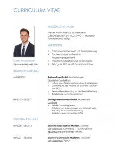 Porbe von  Tabellarischer Lebenslauf Vorlage: Kostenlose Muster Zum Download! Vorlage Lebenslauf Teamleiter