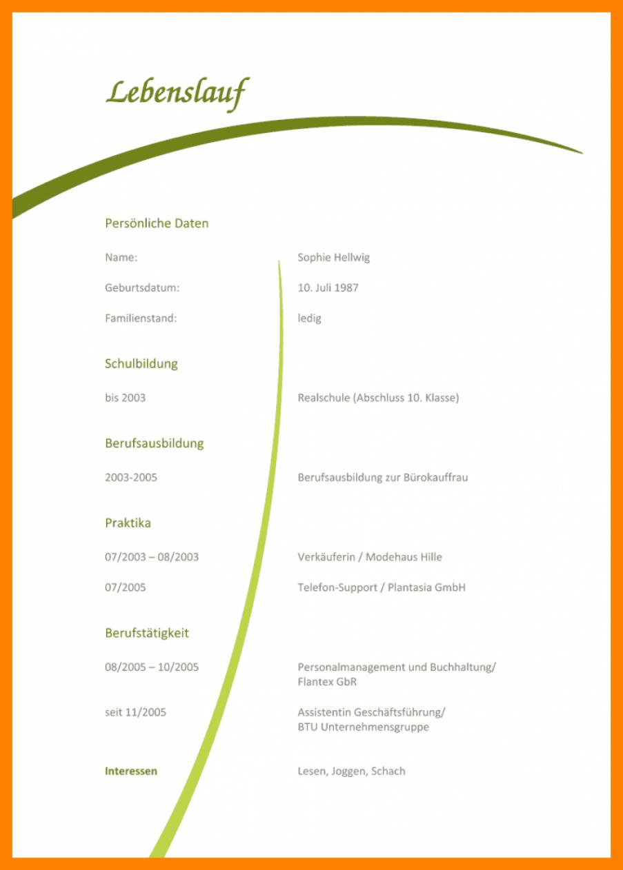 Porbe von  Trend Vorlage Lebenslauf Erzieherin 11+ Lebenslauf Muster Erzieherin Vorlage Lebenslauf Erzieherin