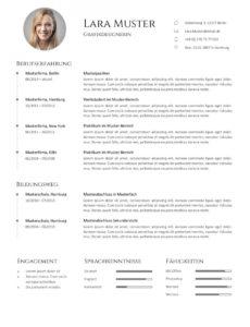 Premium Bewerbungsmuster 7  Lebenslaufdesignsde Vorlage Lebenslauf Zwei Seiten