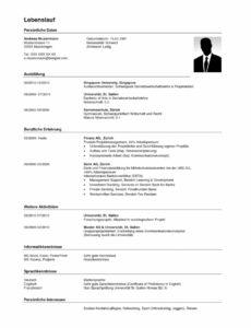 Primär Lebenslauf Vorlage Schweiz Doc Großzügig Mikrowellentechnik Lebenslauf Vorlage Schweiz Praktikum