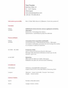 Qualifiziert Vorlage Lebenslauf Französisch  Haraszti Vorlage Lebenslauf Französisch