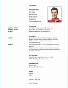 9+ Tabellarischer Lebenslauf Muster Uni Benjamingray Tabellarischer Lebenslauf Studium Vorlage