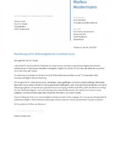 Porbe von  Bewerbungsvorlagen Als Consultant  Bewerbung2Go Lebenslauf Vorlage Consulting