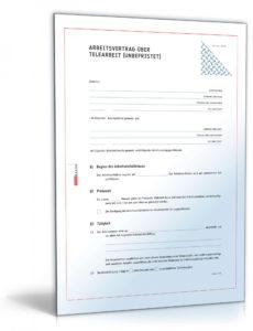 [%Eine Probe%|Porbe|] vonArbeitsvertrag Homeoffice Als Muster Online Kaufen  Sofort Home Office Vereinbarung Vorlage