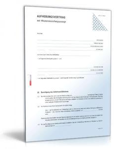 [%Eine Probe%|Porbe|] vonAufhebungsvertrag Arbeitnehmer Vorlage Gute Aufhebungsvertrag Vereinbarung Zur Entlassung Eines Mieters Aus Dem Mietvertrag