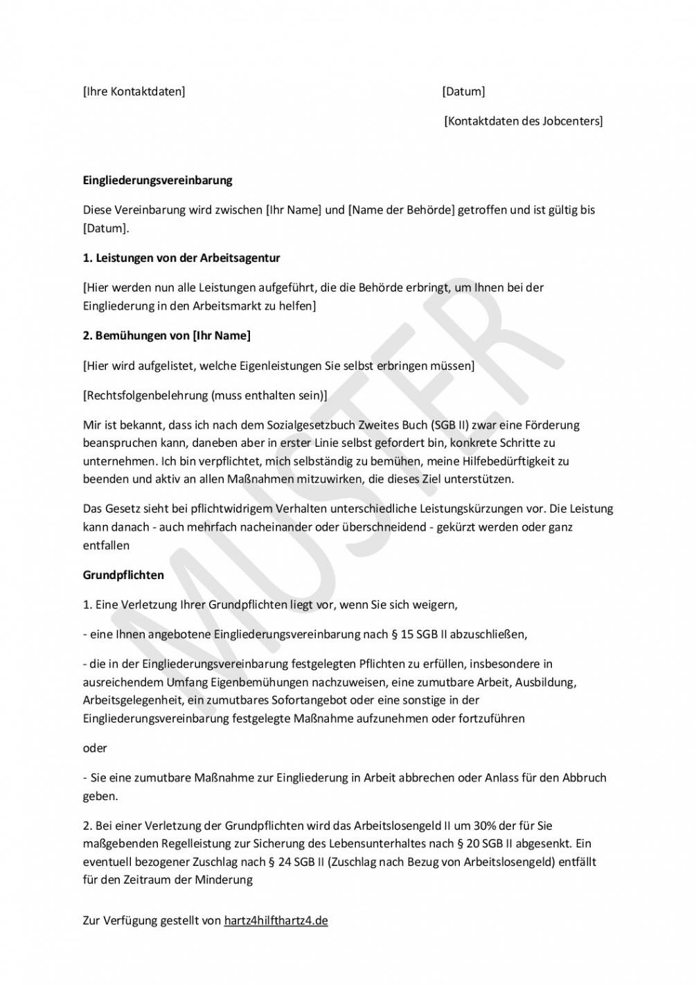 [%Eine Probe%|Porbe|] vonHartz4Antrag: Muster Für Alle Belange  Hartz Iv & Alg 2 Vereinbarung Kostenübernahme Führerschein Vorlage