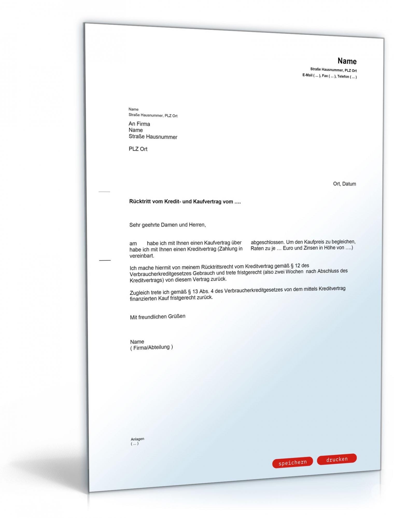 [%Eine Probe%|Porbe|] vonRücktritt Kaufvertrag Möbel Musterbrief Rücktritt Vom Vorlage Vereinbarung Möbelübernahme