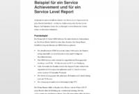 [%Eine Probe%|Porbe|] vonService Level Agreement (Sla) Service Level Vereinbarung Vorlage