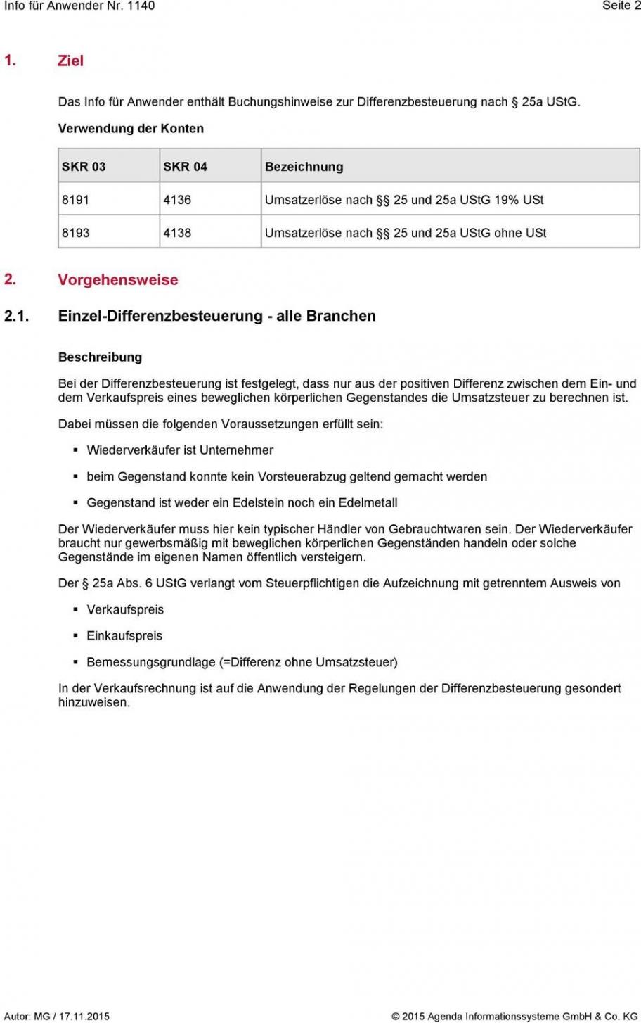 bearbeitbar von 10 differenzbesteuerung nach §25a ustg rechnung muster differenzbesteuerung rechnung vorlage pdf